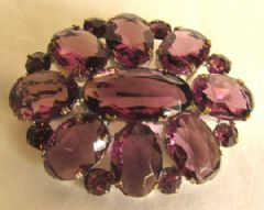 Photo 1 for Amethyst Glass Art Deco Brooch