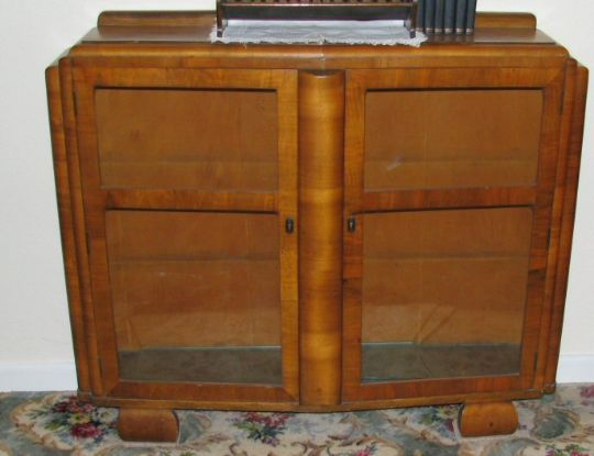 Main photo for Art Deco Bow Fronted Display Cabinet