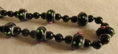 Photo 2 for Black Glass 'Lampwork' Art Deco Necklace