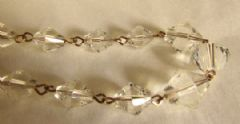 Photo 2 for Clear Glass & Rolled Gold Art Deco Necklace