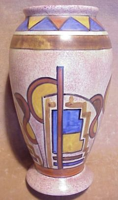 Main photo for Clews Chameleon Ware Art Deco vase 229/117