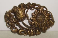 Photo for Czech Art Nouveau Gilt Metal Brooch