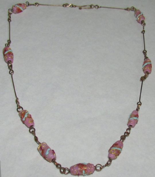 Main photo for Lampwork & Rolled Gold Necklace