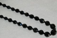 Photo 1 for Long Black Glass Bead Necklace