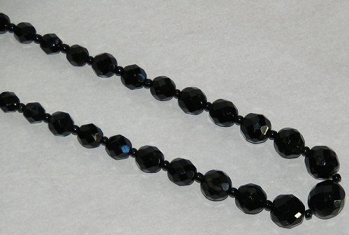 Main photo for Long Black Glass Bead Necklace
