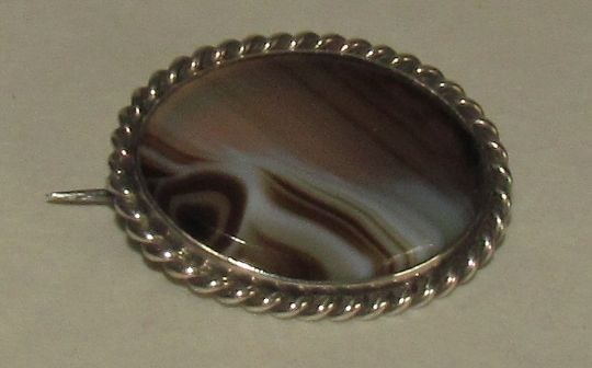 Main photo for Silver & Agate Brooch