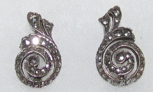 Main photo for Silver & Marcasite Clip Earings