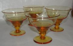 Photo 1 for Stuart Crystal GlassSundae Dishes X 4