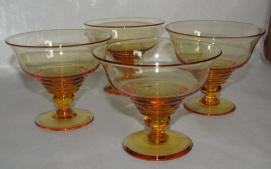 Main photo for Stuart Crystal GlassSundae Dishes X 4