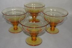 Photo 2 for Stuart Crystal GlassSundae Dishes X 4