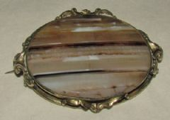 Photo for Victorian Agate & Brass Brooch