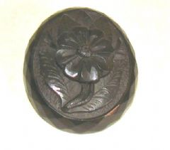 Photo 1 for Victorian Carved Jet Flower Brooch