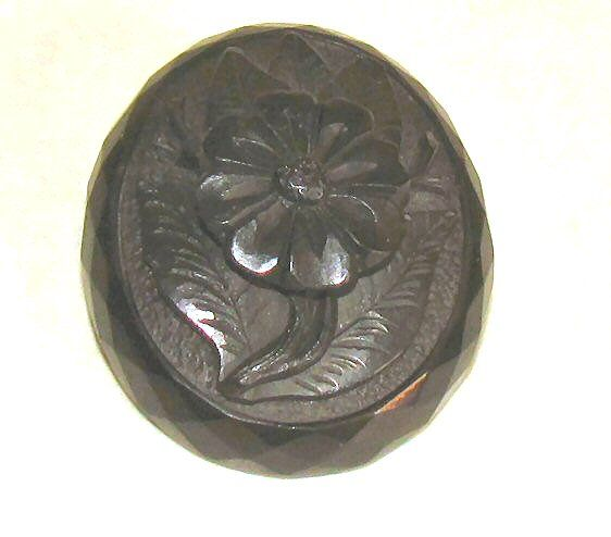 Main photo for Victorian Carved Jet Flower Brooch