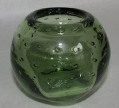 Photo for WEBBS GREEN BUBBLE GLASS BOWL