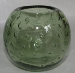 Photo 1 for WEBBS GREEN BUBBLE GLASS VASE