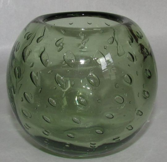 Main photo for WEBBS GREEN BUBBLE GLASS VASE