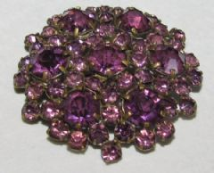 Photo for CZECH AMETHYST GLASS STAR BROOCH
