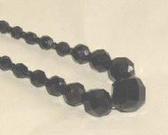 Photo for Art Deco Black Glass Necklace