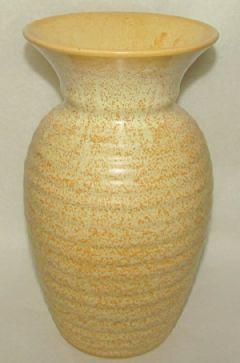 Photo for Candy Ware Art Deco Large Flared Ribbed Vase