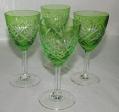 Photo for 4 GREEN GLASS GLASSES