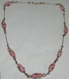 Photo for Lampwork & Rolled Gold Necklace